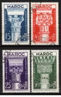 Marocco - 1952 - Usato/used - Solidarite - Mi N. 344/47 - Used Stamps