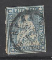 Svizzera - 1854 - Usato/used - Helvetia - Mi N. 14 - Used Stamps