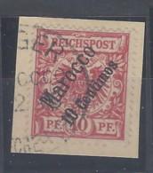 Germania - Ufficio Marocco - 1899 - Usato/used - Allegoria - Mi N. 3 - Kantoren In Marokko