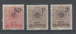 Marocco - 1944 - Nuovo/new MH - Segnatasse - Mi N. 19/21 - Unused Stamps