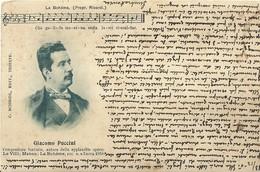 """6171 """" GIACOMO PUCCINI - LA BOHEME """" CART. POST. ORIG. SPED.1901 - Musica E Musicisti"""