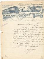 FA 1446- FACTURE -   VETEMENTS CONFECTIONNES STALISLAS BESNIER  SAINT LO  (MANCHE)  (1903) - Textile & Vestimentaire