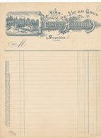 FA 1452- FACTURE - VINS EAUX DE VIE EN GROS ERNEST HAVARD  AVRANCHES   (MANCHE)  () - Straßenhandel Und Kleingewerbe