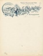 FA 1453- FACTURE - VINS EAUX DE VIE LOUIS  LAUMONIER  AVRANCHES   (MANCHE)  () - Straßenhandel Und Kleingewerbe