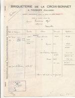 FA 1472  FACTURE  ET TRAITE -  BRIQUETERIE DE LA CROIX SONNET  TOUQUES    (CALVADOS)  (1950) - Old Professions