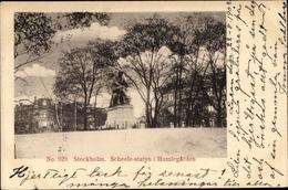 Cp Stockholm Schweden, Scheele Statyn I Humlegarden - Schweden