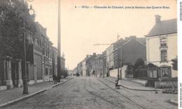 CPA -  Belgique, GILLY, Chaussee De Chatelet, Pres La Station Des Quatre Bras - Charleroi