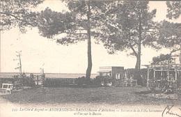 X1847 GIRONDE COTE D ARGENT BASSIN ARCACHON  ANDERNOS LES BAINS TERRASSE VILLA SAISSONNAC ET VUE BASSIN PLAN PEU COURANT - Andernos-les-Bains