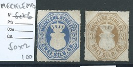 ALLEMAGNE - MECKLEMBOURG-STRELITZ : N°5 Et 6 Cote 200€. - Mecklenburg-Strelitz