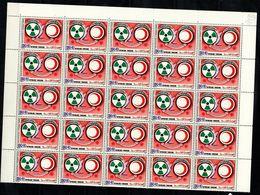 Tunisie 1987  Nobel Red Cross Croix Rouge Feuille De 50 Pliée Horizontalement MNH - Nobelprijs