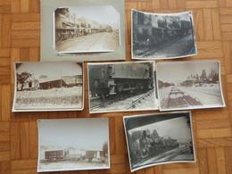 Aveyron 7 Photos, 1909-1910, Millau, Déraillement Train. - Trains