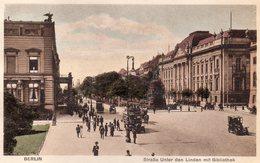 BERLIN - Strasse Unter Den Linden Mit Biliothek - Ohne Zuordnung