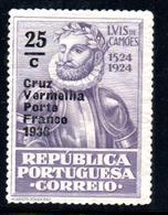 N° 85 * ( Cruz Vermelha Porte France 1936 ) - 1935 - Franchise