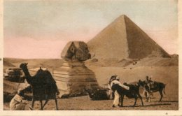 EGYPT The Spinx And The Pyramid Of Cheops 1917 - Sphinx