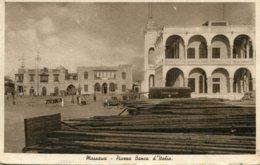ERITREA - Massaua Piazza Banca D'talia - Eritrea