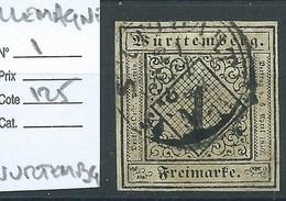 ALLEMAGNE - WURTEMBERG : N°1 Cote 125€. - Wurttemberg