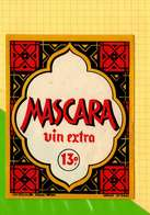 Etiquette De Vin : Vin Extra MASCARA - Sud Africa