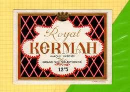 Etiquette De Vin : Vin Royal KERMAH - Sud Africa