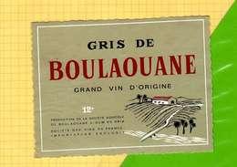 Etiquette De Vin : Vin Gris De BOULAOUANE - Sud Africa