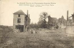 Dpts Div.-ref-AP272- Marne - Saint Thomas - St Thomas - Ruines - Grande Guerre En Chamapgne Argonne - Guerre 1914-18 - - France