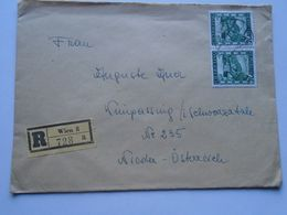 ZA248.11 Austria  Registered Cover 1947   Wien - 1945-.... 2nd Republic