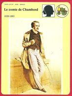 Le Comte De Chambord. Henri D' Artois. Henri V. Maison Capétienne De Bourbon. XIXe Siècle. - Geschiedenis