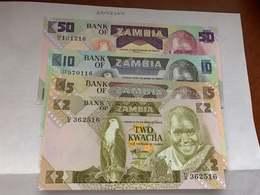 Zambia  Unc. Banknote 1988 Lot Of 4 - Vietnam