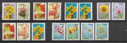 France - 2002-08 - Préo N°Yv. 244 à 258 - Fleurs - Complet - Neuf Luxe ** / MNH / Postfrisch - Préoblitérés