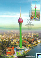 Sri Lanka Stamps 2019, Colombo Lotus Tower, Maxicard - Sri Lanka (Ceylon) (1948-...)