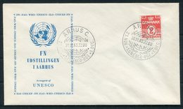 1963 Denmark UNESCO Aarhus Cover - Danimarca
