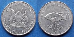 "UGANDA - 200 Shillings 2008 ""cichlid Fish"" KM# 68 Republic - Edelweiss Coins - Ouganda"