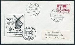 1983 Denmark Skjern Windmill Jubilee Cover. Slania - Danimarca