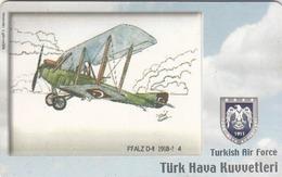TURKEY - Pfalz D-II 1918-? (Aircraft) , Tirage 275,000 , 50 Unit ,used - Türkei