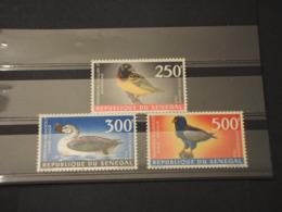 SENEGAL - P.A. 1968 UCCELLI 3 VALORI -  NUOVI(++) - Senegal (1960-...)