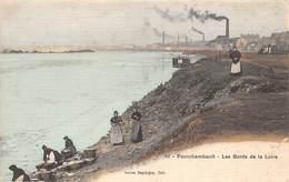 58 - Fourchambault - Les Bords De La Loire Animés - ( Lavandières - Cheminées Des Usines à Pleine Vapeur ) - France