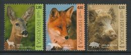 CROATIA 2015 Croatian Fauna: Set Of 3 Stamps UM/MNH - Croazia