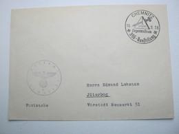 1938 , CHEMNITZ - Loge , Seltener Sonderstempel Auf Brief - Briefe U. Dokumente