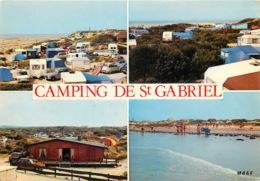 CAMPING CARAVANING DES DUNES PLage Saint Gabriel 8 (scan Recto Verso)MF2757 - Francia
