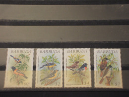BARBUDA - 1991 UCCELLI/PIANTE 4 VALORI -  NUOVI(++) - Antigua E Barbuda (1981-...)