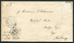 1855 Denmark Copenhagen Entire - 1851-63 (Frederik VII)