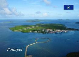 Micronesia Pohnpei Island Aerial View New Postcard Mikronesien AK - Micronesië