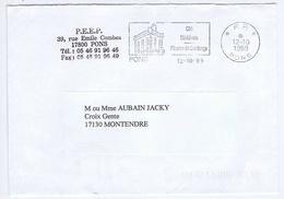 CHARENTE-MARITIME - Flamme Port Payé Illustrée à Gauche PONS Du 12 - 10 1999 - Marcophilie (Lettres)