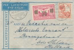 Nederlands Indië - 1933 - 42,5 Cent Frankering Op LP-briefje Van LBnr MEDAN/3 Naar Den Helder / Nederland - Niederländisch-Indien