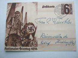1934 , FÜRSTENWALDE , Klarer Stempel Auf Karte - Briefe U. Dokumente