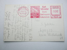1936 , PROBSTZELLA , Brauerei , Klarer Freistempel Auf Karte - Briefe U. Dokumente
