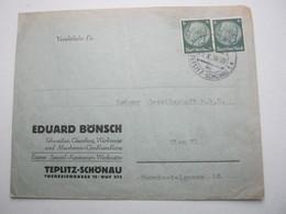 1938 , TEPLITZ - SCHÖNAU , Firmenbrief - Briefe U. Dokumente