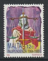 MALTA 1989 25th Anniversary Of Independence: Single Stamp UM/MNH - Malta