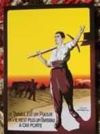 CPM PUB TRAVAIL PLAISIR REPRO LITHO 1909 DORIVAL COLLEC AUTHENTIQUES IMAGINAIRES 2003 - Pubblicitari