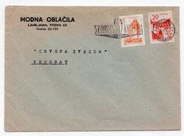 1962 YUGOSLAVIA,SLOVENIA,LJUBLJANA TO BELGRADE,MODNA OBLACILA,COMPANY COVER,FLAM:5TH YU SYNDICATES KONGRESS - 1945-1992 Socialist Federal Republic Of Yugoslavia