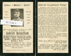 Ardennes. ORFEUIL.1918. Sterbebild Avis Décès Soldat Allemand - 1914-18